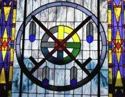 Stained Glass Windows Framed Prints - Nations Hoop Framed Print by Chris Brewington
