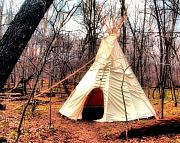 Native Photos - Native American Abode by Jimmy Ostgard