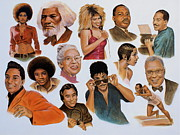 The Jacksons. Posters - Native American And African American Poster by Curtis James