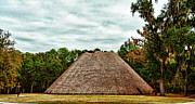 Apalachee Prints - Native American Council House Print by Frank Feliciano