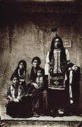 American Photograph Framed Prints - Native American Family Framed Print by Granger