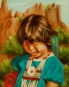 Girls Posters - Native American Girl Poster by Joni McPherson