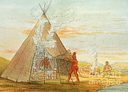 Sweat Prints - Native American Indian Sweat Lodge Print by Science Source