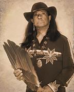 Native American Seer Print by Benjamin  Thomas