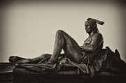 Eakins Oval Framed Prints - Native American statue - Eakins Oval Philadelphia Framed Print by Bill Cannon