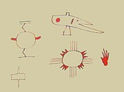 Symbols Drawings - Native American Symbols by Roberto Prusso