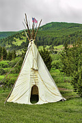 Western Western Art Prints - Native American Teepee Print by James Bo Insogna
