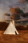 Tepee Posters - Native American Tepee Poster by Jill Battaglia