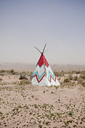 Scrub Brush Framed Prints - Native American Tipi Replica Framed Print by Paul Edmondson