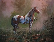Native American Art - Native American War Pony by Tom Shropshire