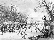 Ball Game Prints - Native Americans: Ball Game, 1855 Print by Granger