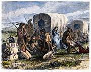 Cary Framed Prints - Native Americans: Gambling, 1870 Framed Print by Granger
