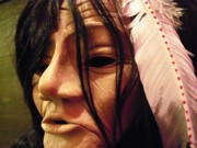 Tribal Art Sculptures - Native Mask by Magenta Marie Spinningwind