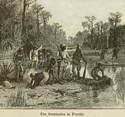 African-americans Framed Prints - Natives Of Many Southeastern Tribes Framed Print by Everett