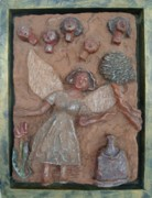 Motherhood Reliefs - Natividad 1 by Lorna Diwata Fernandez