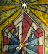Manger Mixed Media Posters - Nativity Poster by Brenda Kato