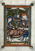 Manuscript Illumination Prints - Nativity: Illumination Print by Granger