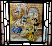 Manger Posters - Nativity in Stained Glass Poster by Lainie Wrightson