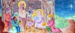 Christ Painting Originals - Nativity by Jame Hayes
