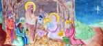 Nativity Print by Jame Hayes