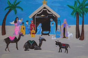 Night Angel Paintings - Nativity by Melanie Wadman