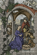 Manger Posters - Nativity Poster by Photo Researchers