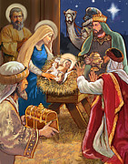 Christian Mythology Prints - Nativity Print by Valerian Ruppert