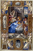 Nativity Prints - Nativity With Shepherds Print by Granger