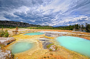 Yellowstone Metal Prints - Natural Beauty Metal Print by Philippe Sainte-Laudy Photography