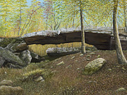 Arkansas Paintings - Natural Bridge of Arkansas by Mary Ann King
