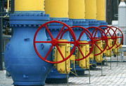 Compressor Framed Prints - Natural Gas Compressor Station Machinery Framed Print by Ria Novosti