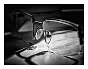 Blackandwhite Photo Posters - Natural Light - Glasses Poster by Brian Carson