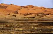 Erg Chebbi Framed Prints - Natural patterns formed in large sand dunes Framed Print by Sami Sarkis