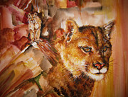 Pride Paintings - Natural Sentinel Mountain Lions by NHowell