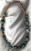 Fetishes Jewelry - Natural Turquoise  and Copper necklace by White Buffalo