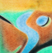 Collagraph Pastels - Nature Abstract by Soft Pastel Paintings