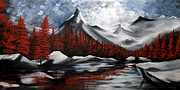 Landscape Prints Paintings - Nature Beauty 6 by Uma Devi