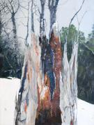 Snowy Trees Paintings - Nature Giveth and She Taketh Away         by Virginia McLaren