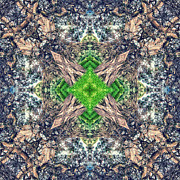 Backdrop Digital Art - Nature Mandala by Stylianos Kleanthous