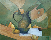 French Pears Prints - Nature Morte aux Poires Print by Natalie L