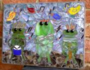 Amphibians Glass Art - Nature Rocks  by Kathleen Stewart