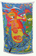 Animals Love Tapestries - Textiles Posters - Nature Poster by Rollin Kocsis