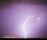 Lightning Bolts Prints - Nature Showing Face Print by James Bo Insogna