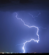 Lightning Bolts Posters - Nature Strikes Poster by James Bo Insogna