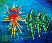 Sun Tapestries - Textiles Prints - Nature Print by Sue Duda