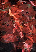 Adele Digital Art - Nature Woman Dancing in Leaves by Adele Greenfield