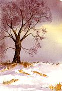 Snow Scene Paintings - Natures Blanket by Barry Jones