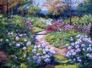 Gardens Paintings - Natures Garden by David Lloyd Glover