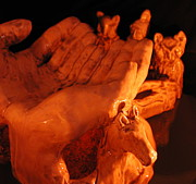 Horses Ceramics - Natures Hands by Frederick Dost