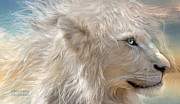 White Lion Posters - Natures King Poster by Carol Cavalaris